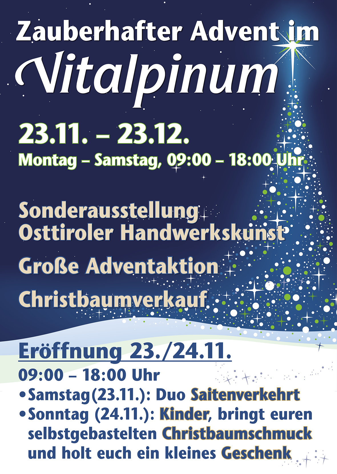 Vitalpinum Advent2019 Plakat