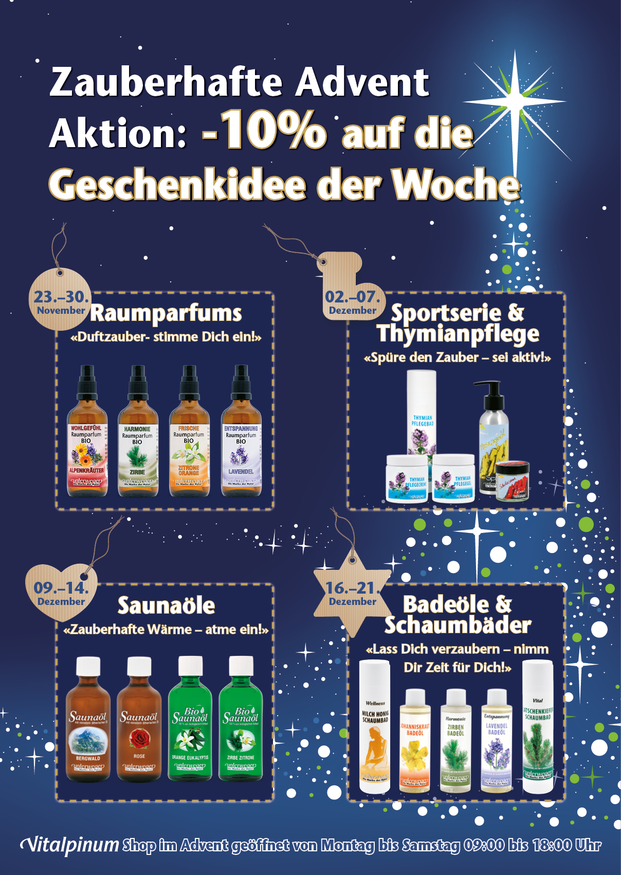 Vitalpinum Advent2019 Plakat Aktion